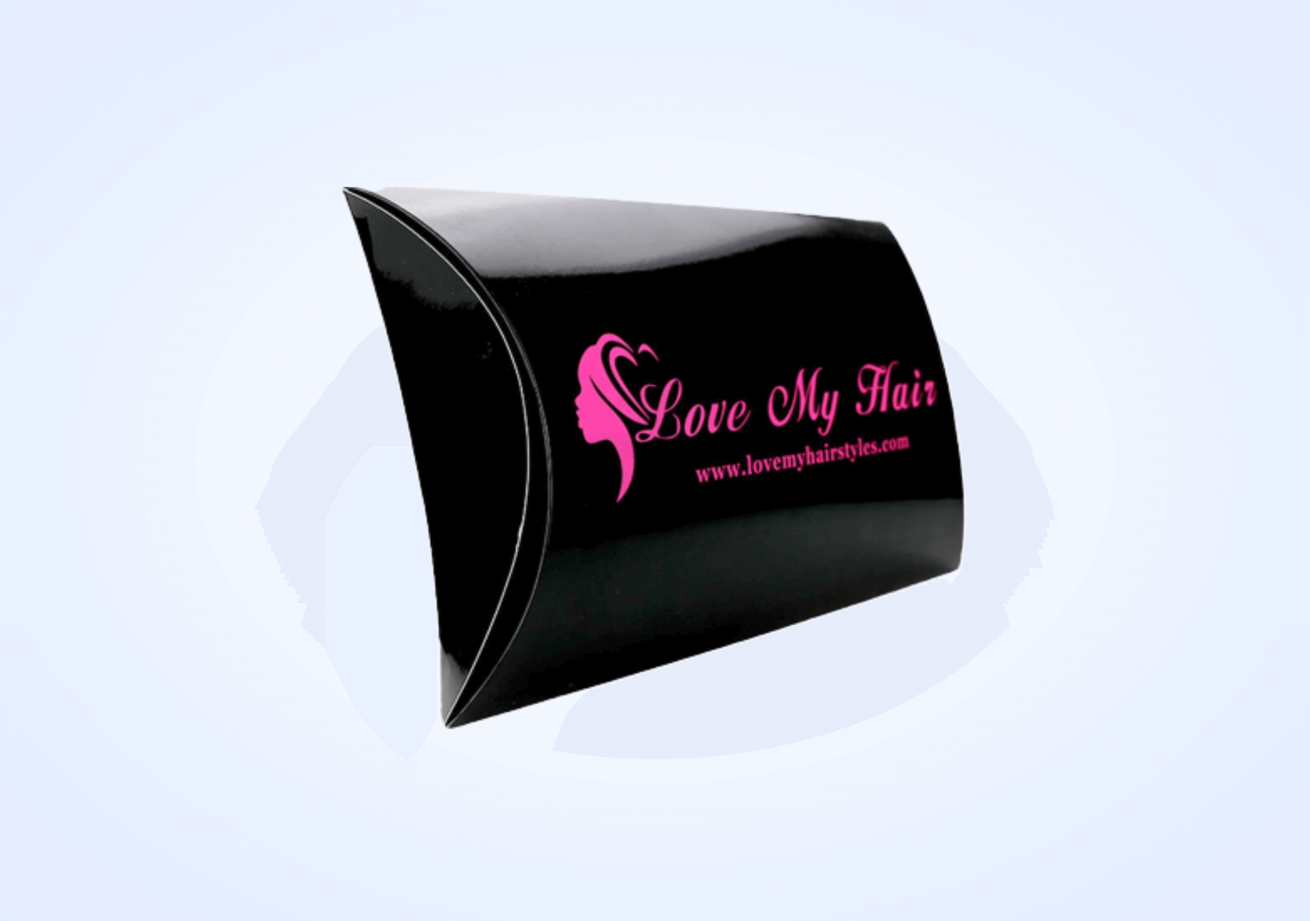 Custom Card stock Hair Extension Boxes - Silver Edge Packaging